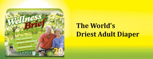 WellnessBrief Driest Adult Diaper